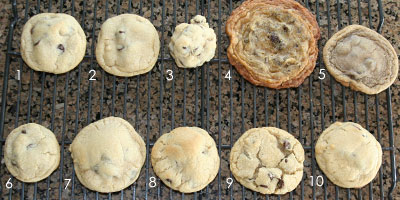 """not only does this blogger give you the recipe for the BEST chocolate chip cookies, but she tells you how to avoid all the common """"cookie problems"""""""