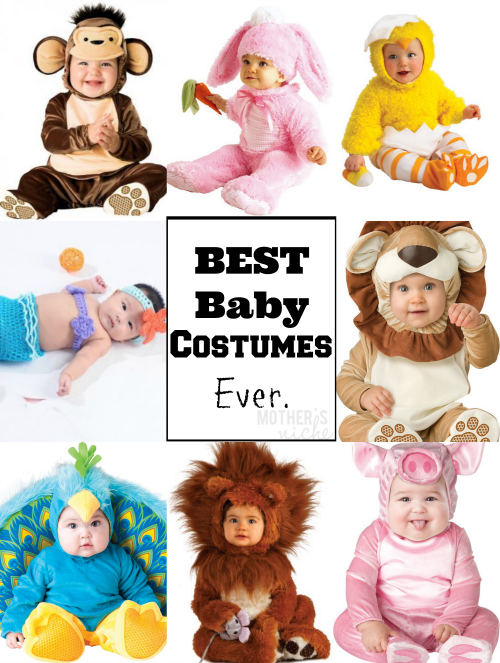 So many cute ideas for baby Halloween costumes!