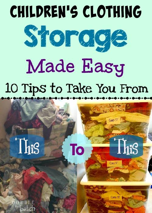 Children's clothing storage