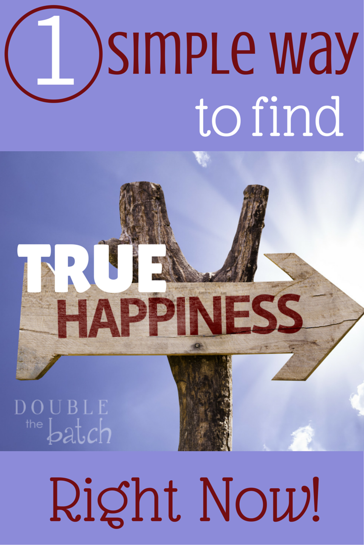 The quickest, easiest way to find true happiness right now no matter who you are or what your circumstances are.