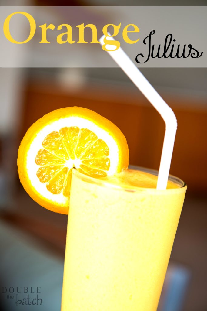 I seriously can't get enough of this delicious, frothy, Orange Julius!!