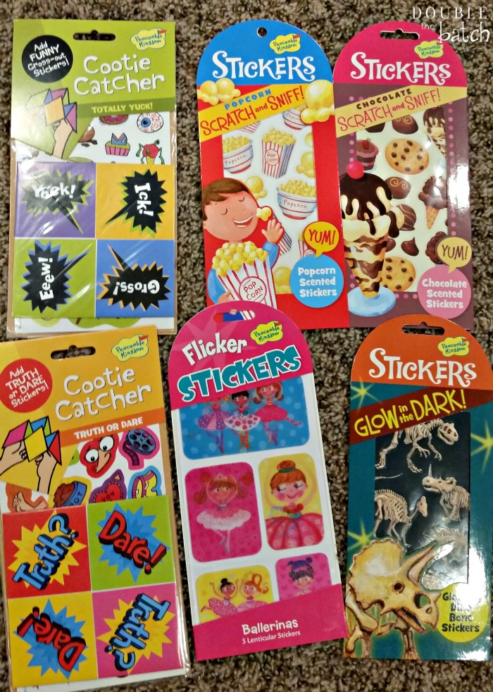 Peaceable Kingdom stickers and cutie catchers