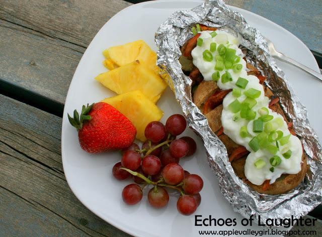 Potato Boat Dinner via Echoes of Laughter