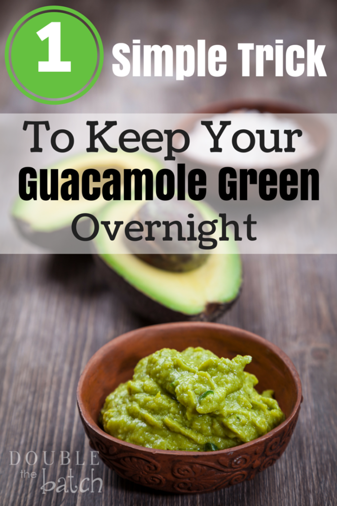 One simple trick to keep your avocados and guacamole green overnight in the refrigerator.