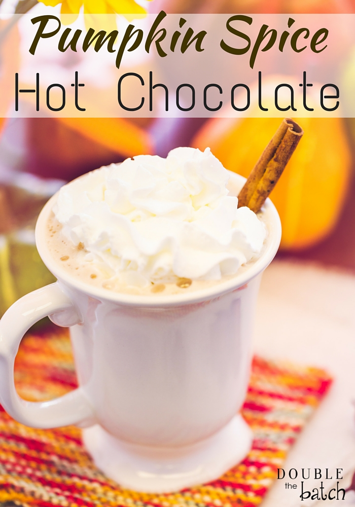 Pumpkin Spice hot cocoa recipe + other flavors as well!