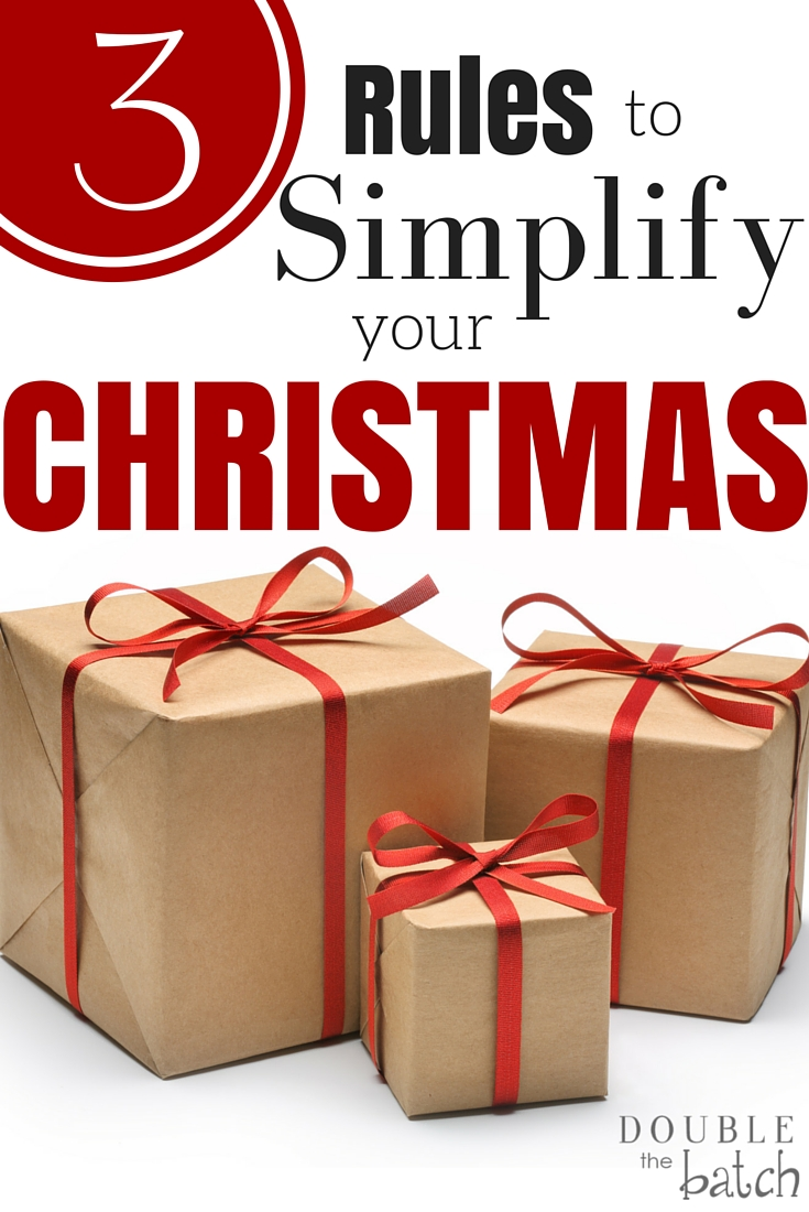 Enough is enough! Time to simplify and take Christmas back!
