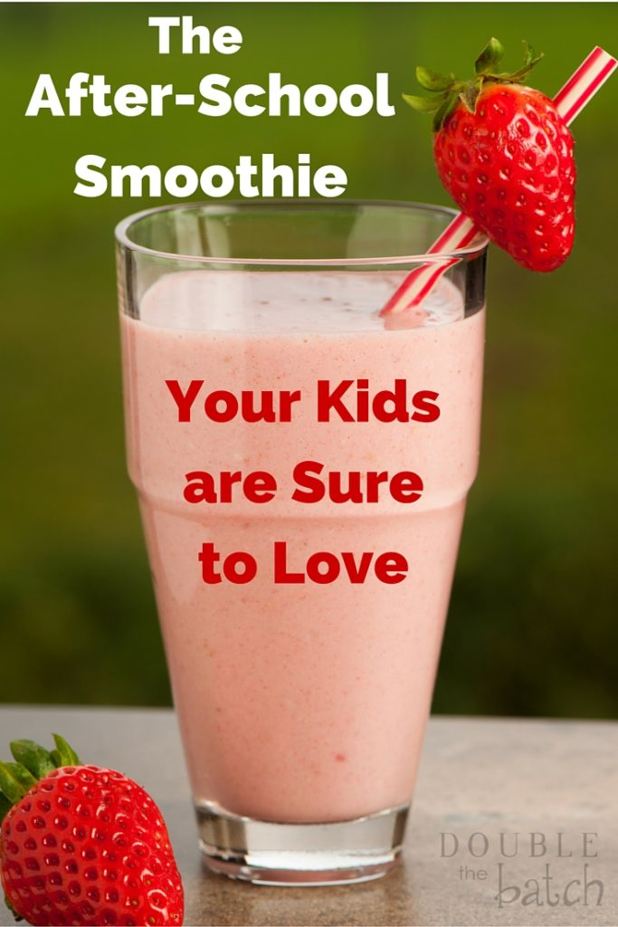 The after-school smoothie that will make your kids #SnackandSmile. #ad #sponsored