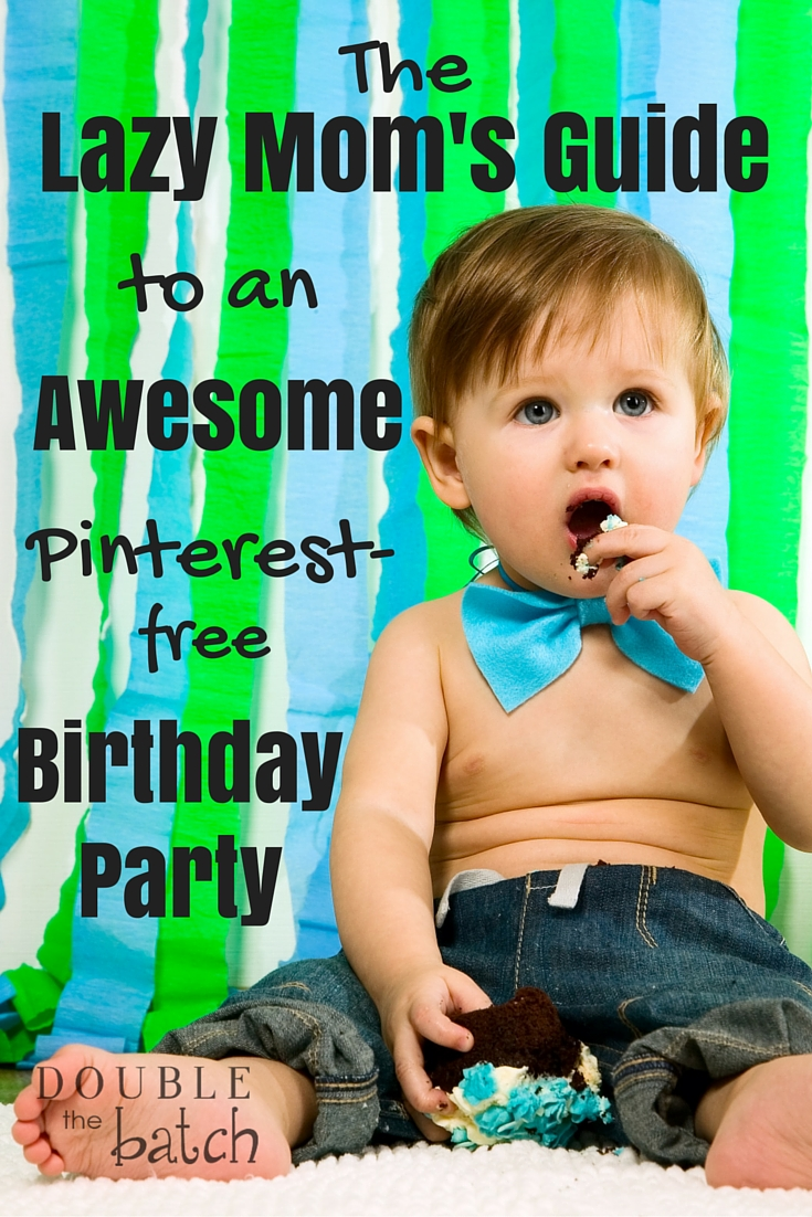 For when you're just not up to going all out. Kid birthday parties made easy.