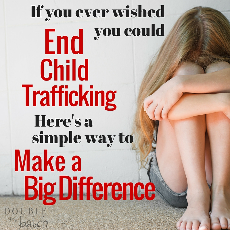 I have never been more excited than when I found out this existed. Now I know there is something simple I can do to help end child trafficking.
