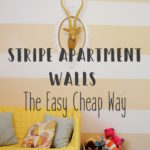 Stripe Apartment Walls: The Easy Cheap Way