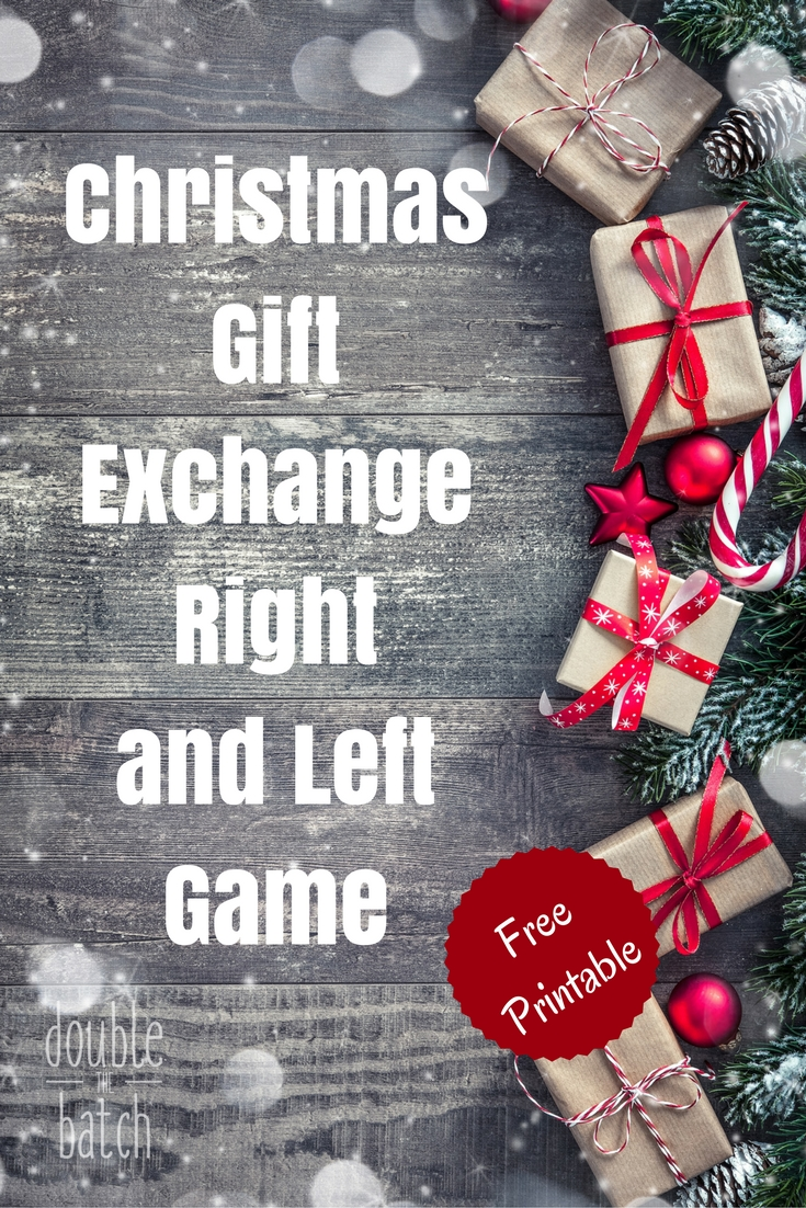 A fun and simple way to exchange gifts at your next party! The Christmas Gift Exchange Right and Left Game that everyone of all ages will love to play! Simplifies gift giving in a fun a creative way!