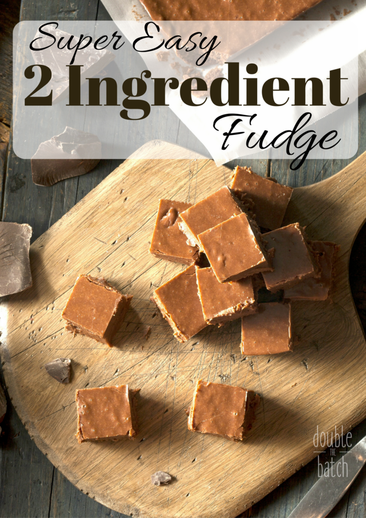 Super easy TWO INGREDIENT fudge! You probably have both of the ingredients in your cupboard already.