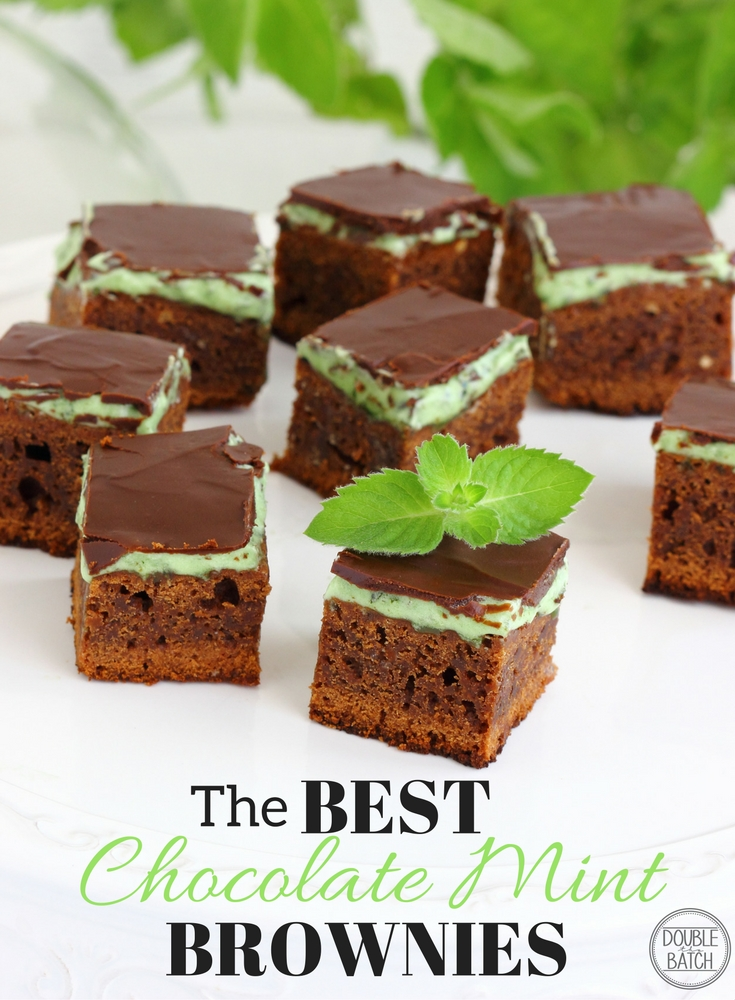 The Best Chocolate Mint Brownies