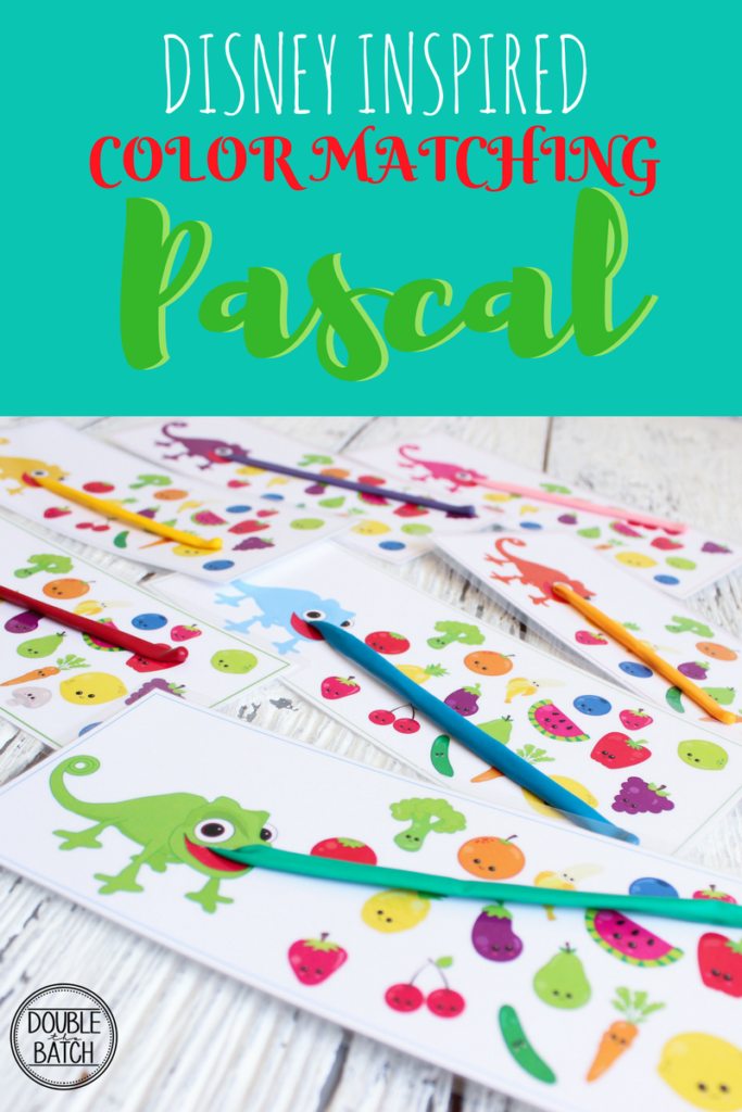 DISNEY INSPIRED Pascal Color Matching Busy Bag