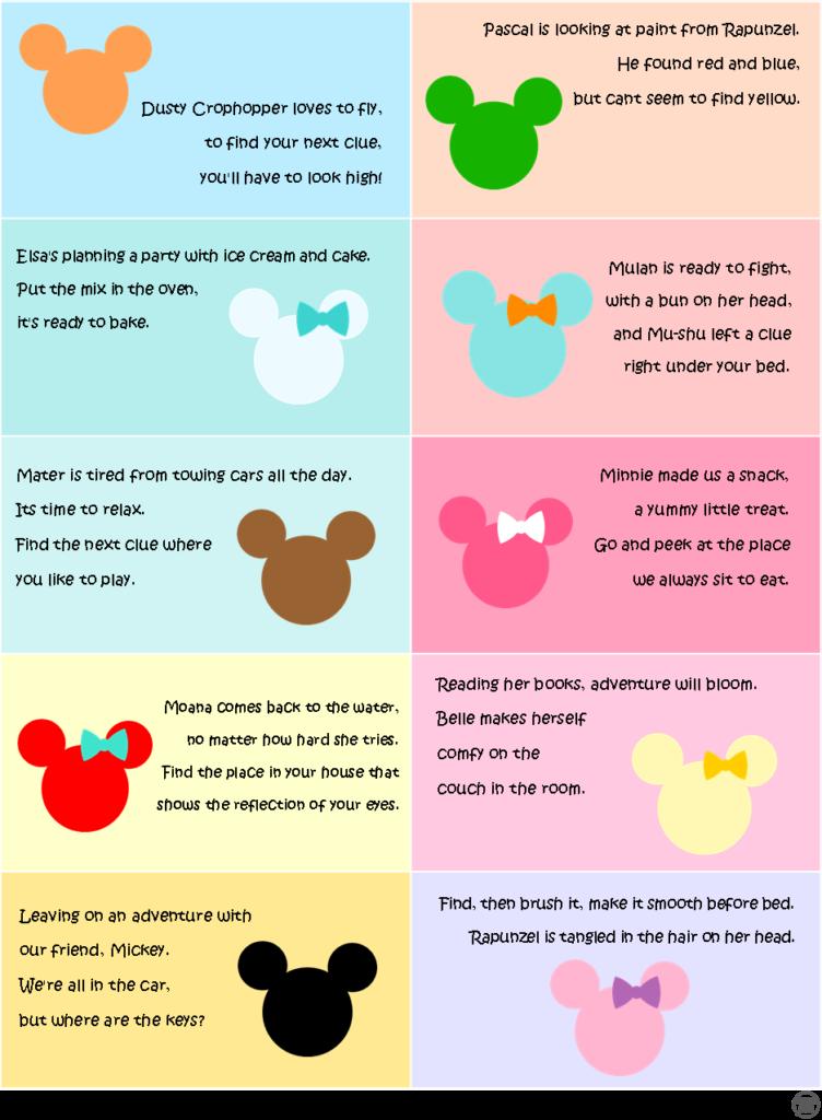 Disney Scavenger Hunt - Clues 2