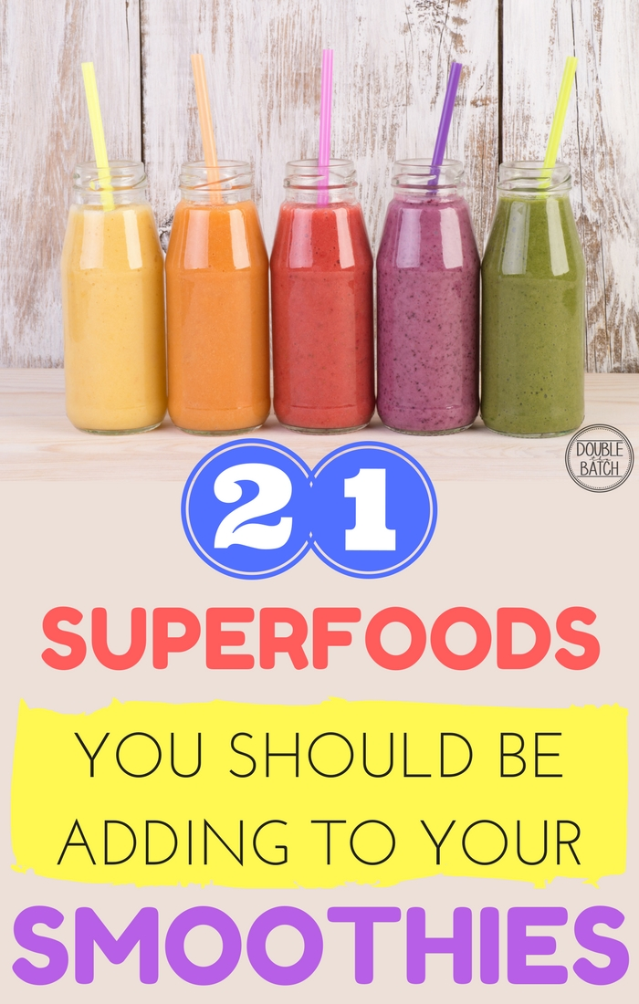 Kick up your HEALTHY MORNING SMOOTHIES an EXTRA notch by adding these amazing SUPERFOODS