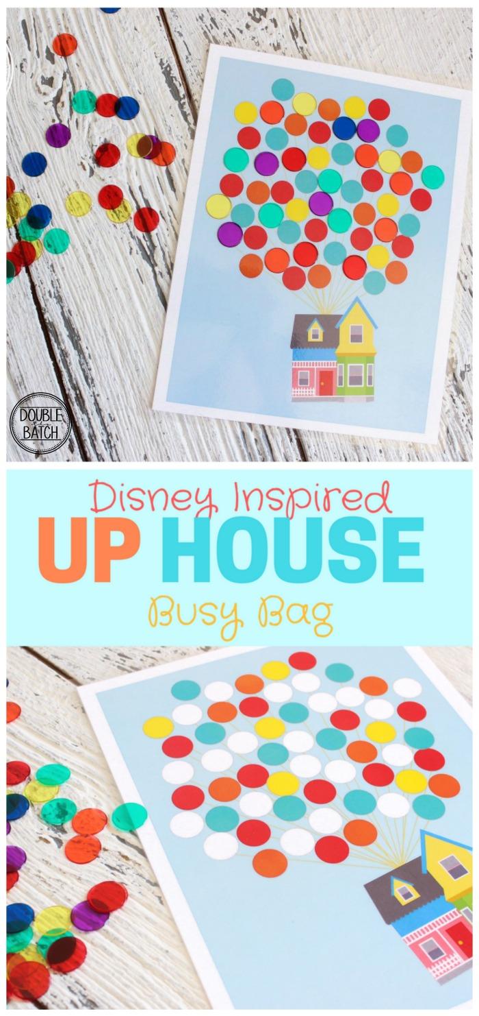 Up House Busy Bag - Free Printable