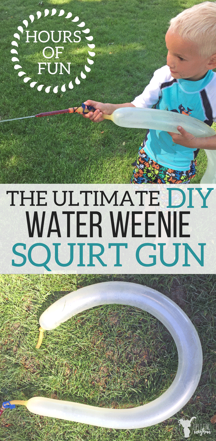 The ultimate water weenie squirt gun! Hours of summer fun in your own back yard! Make this cheap, easy squirt gun your kids will love!