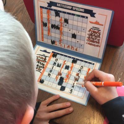 Spelling Battleship your Kids will LOVE!