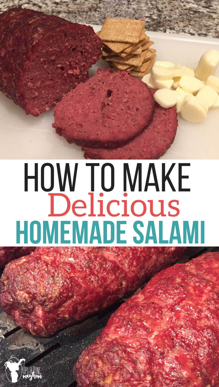 This homemade salami will become a family favorite! Make sandwiches or put it in your kids lunch with crackers and cheese. Salami that smells and tastes amazing!